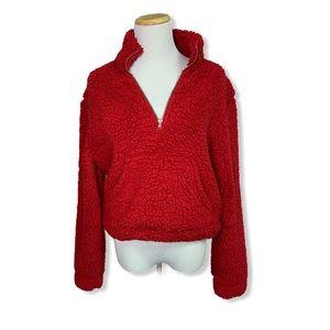 🎀 3/$30 Red Sherpa Sweater